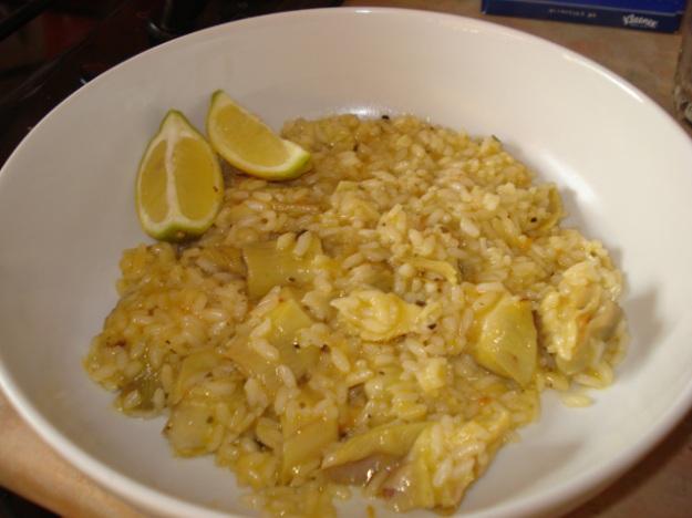 artichoke & lemon risotto