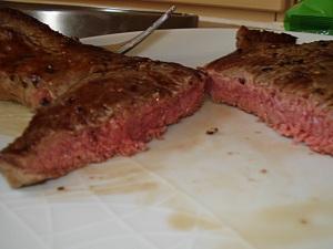juicy steak medium-rare