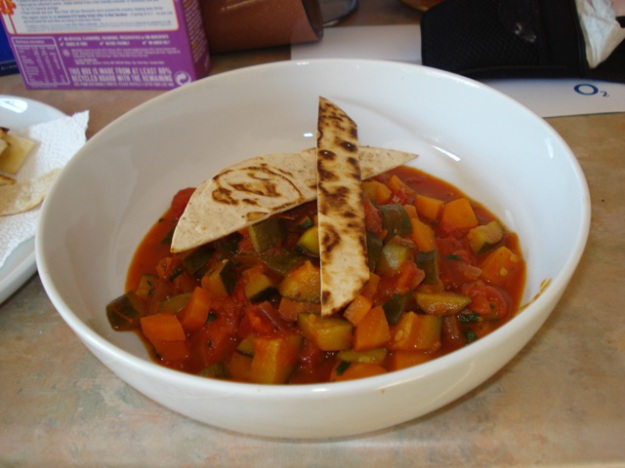 vegetable tagine with tortillas