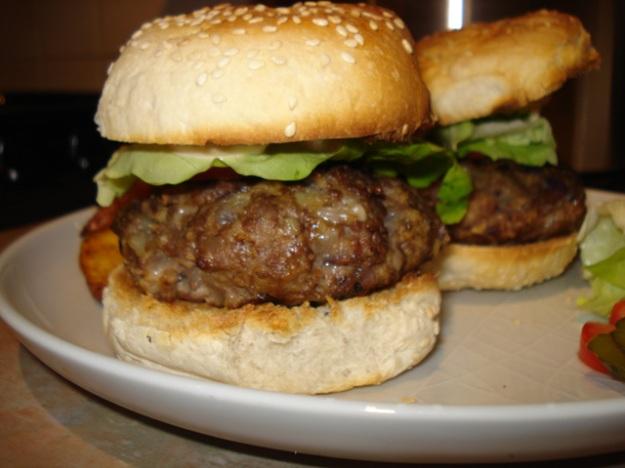 a loaded burger