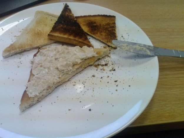 mackerel pate with toast