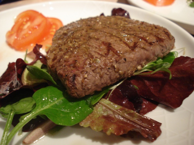 cumin and coriander steak salad