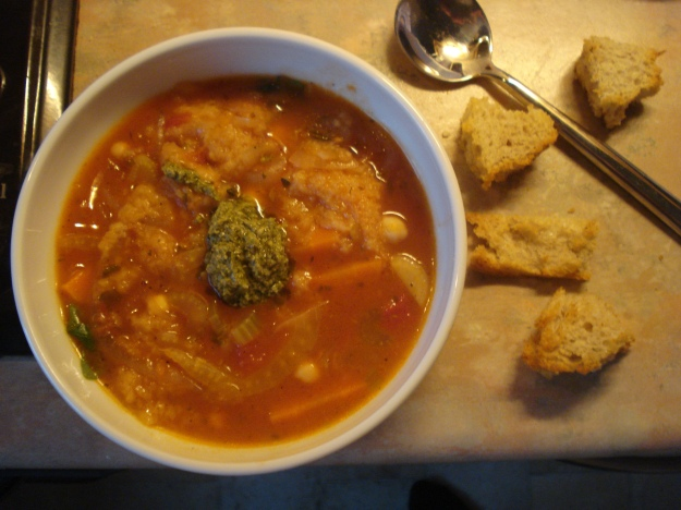 chickpea and bread soup