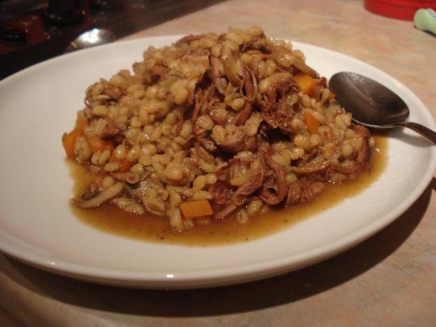 beef and mushroom pearl barley risotto