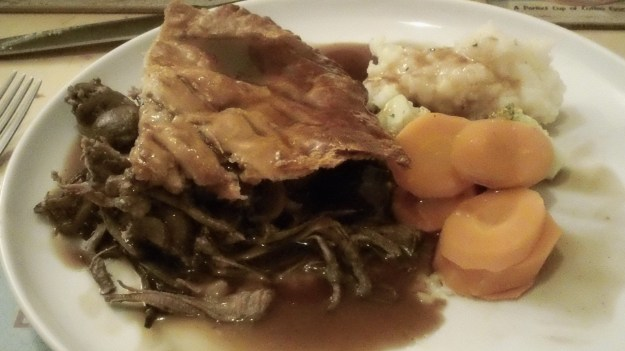beef brisket and mushroom pie with suet pastry