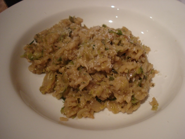 sproutotto, sprout risotto