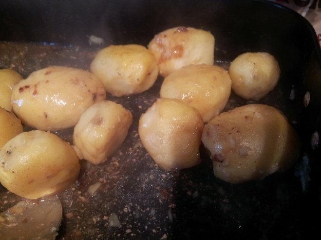 gravy glazed potatoes