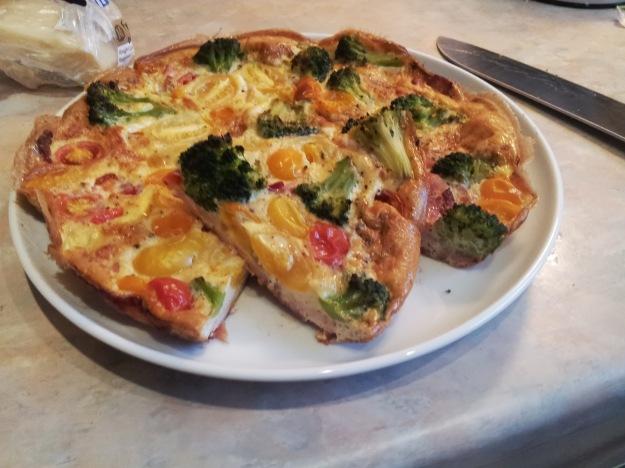 bacon broccoli tomato tortilla